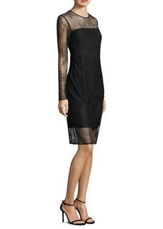 DKNY Donna Karan New York Embroidered Lace Shift Dress