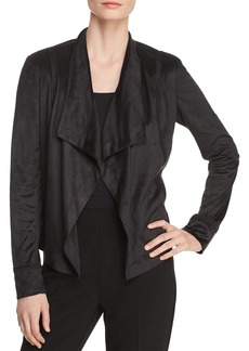 DKNY Donna Karan New York Faux-Suede Draped Open-Front Jacket