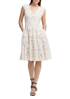 DKNY Donna Karan New York Fit-and-Flare Lace Dress