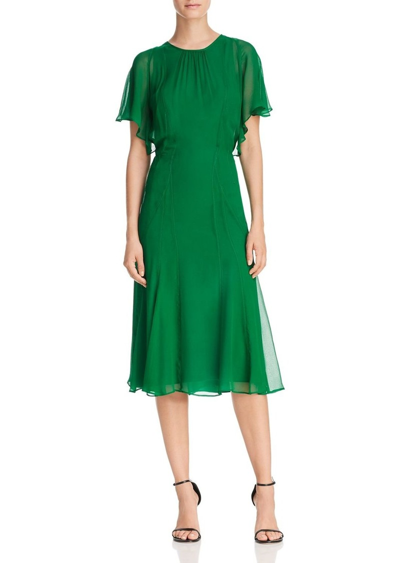 Dkny Donna Karan New York Fit And Flare Silk Dress
