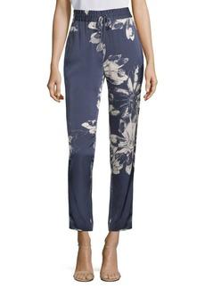 DKNY Floral Straight-Leg Pants