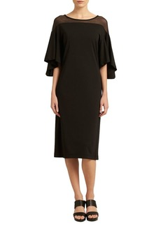 DKNY Donna Karan Flutter Sleeve Dress