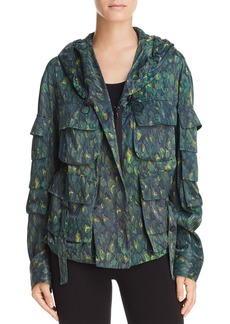 Donna Karan New York Hooded Multi-Pocket Lightweight Jacket