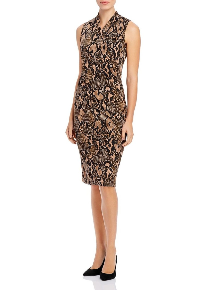 DKNY Donna Karan New York Jersey Faux-Wrap Dress