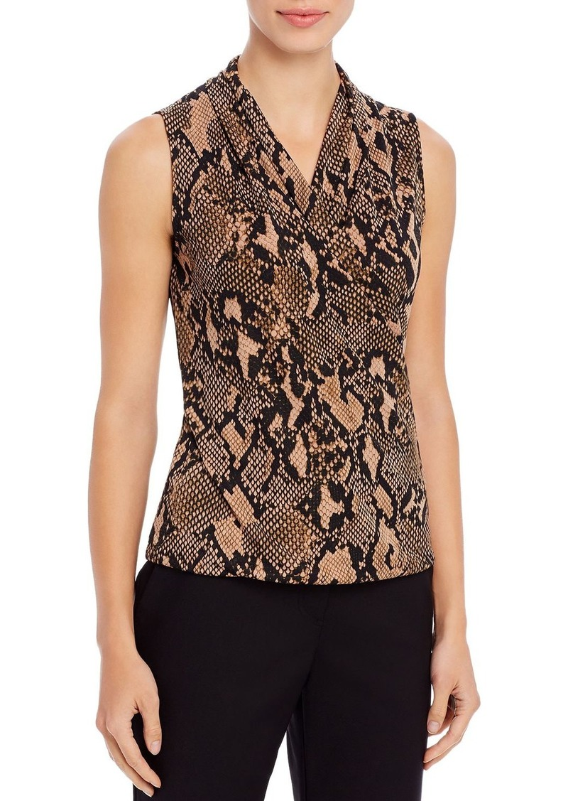 DKNY Donna Karan New York Jersey Faux-Wrap Tank