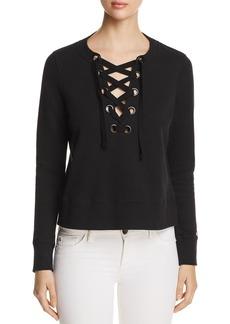 DKNY Donna Karan New York Lace-Up Sweatshirt
