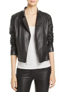 Donna Karan New York Leather Moto Jacket