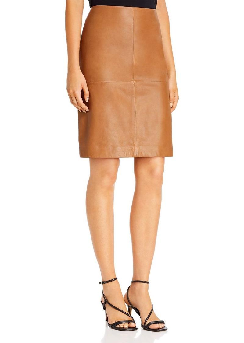 DKNY Donna Karan New York Leather Pencil Skirt