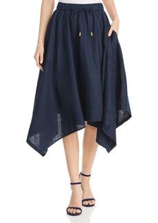 DKNY Donna Karan New York Linen Handkerchief-Hem Skirt