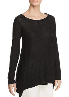 DKNY Donna Karan New York Linen Step-Hem Sweater