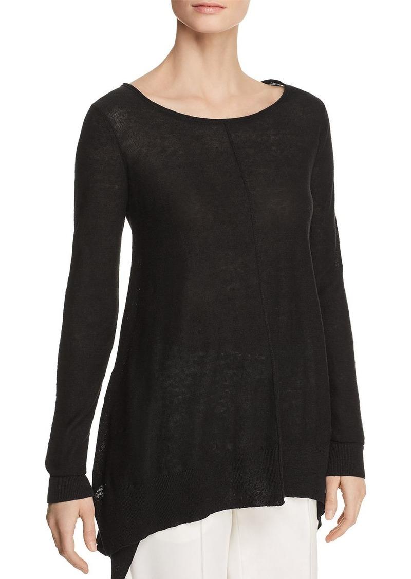 b618bf8d4ff48 DKNY Donna Karan New York Linen Step-Hem Sweater