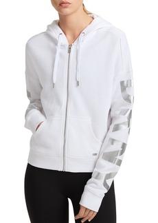 DKNY Donna Karan New York Logo Zip Hoodie