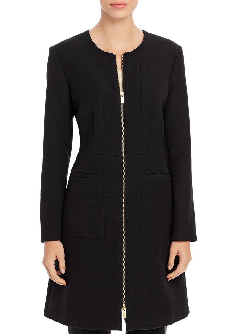 DKNY Donna Karan New York Long Zip-Front Jacket