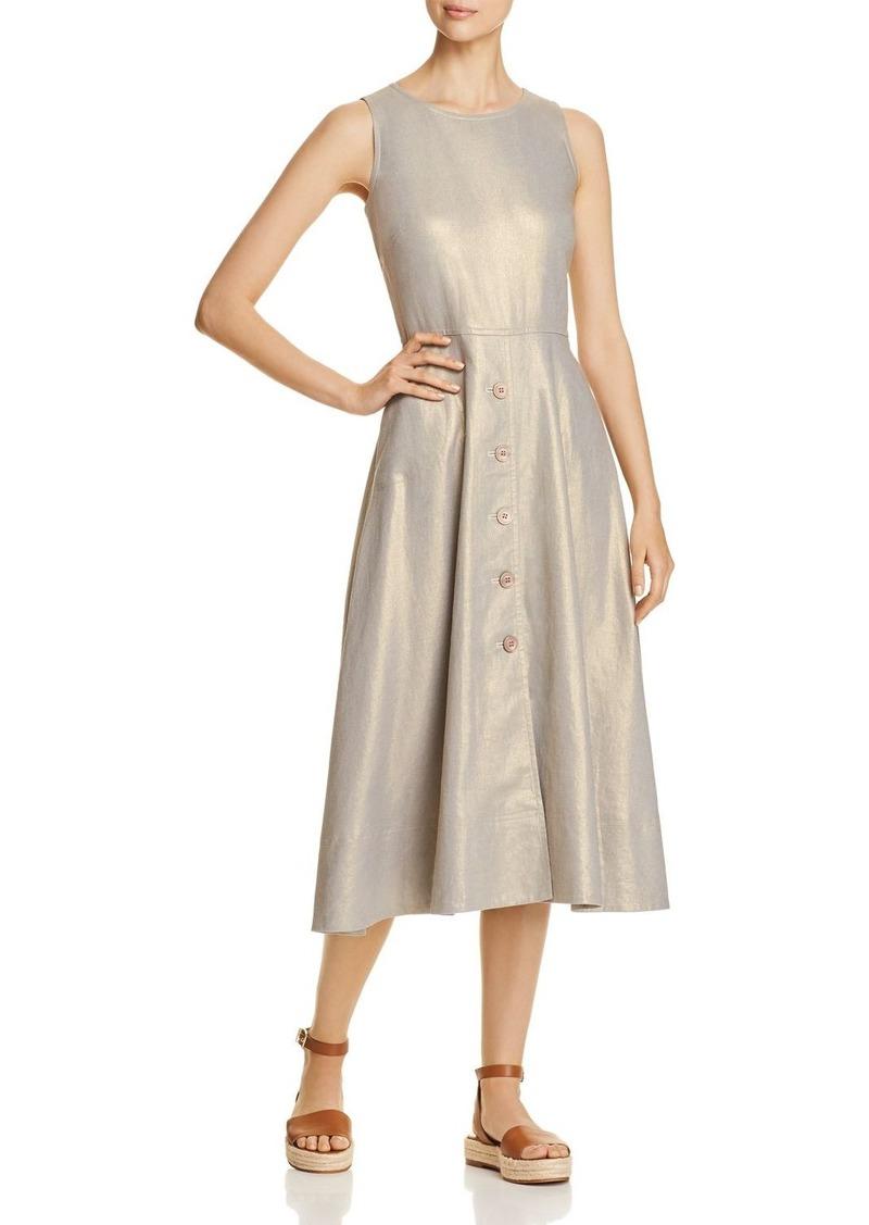eb75dbc4e4 SALE! DKNY Donna Karan New York Metallic Flared Midi Dress
