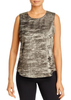 DKNY Donna Karan New York Metallic Layered Tank