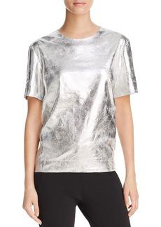 DKNY Donna Karan New York Metallic Short Sleeve Top