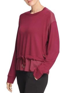 DKNY Donna Karan New York Mixed Media Sweatshirt