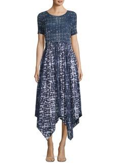 DKNY Donna Karan New York Mixed Media Trapeze Dress