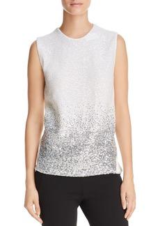 DKNY Donna Karan New York Open-Back Sequin Sleeveless Top