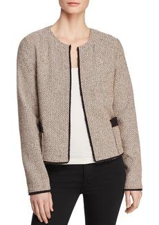 DKNY Donna Karan New York Open-Front Tweed Jacket