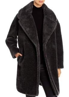 DKNY Donna Karan New York Oversized-Lapel Teddy Coat