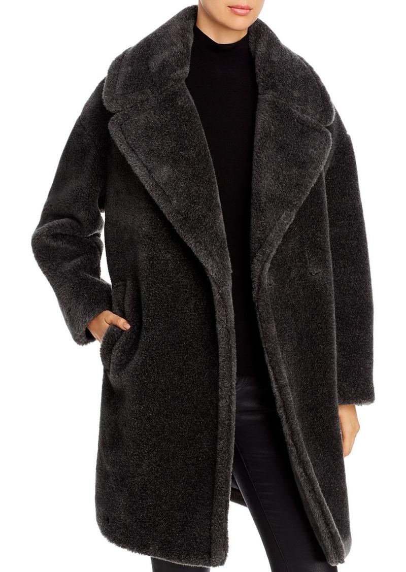 DKNY Donna Karan New York Oversized-Lapel Teddy Coat