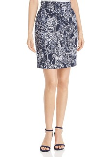 DKNY Donna Karan New York Paisley-Print Pencil Skirt
