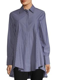 DKNY Paneled Stripe Button-Down Blouse