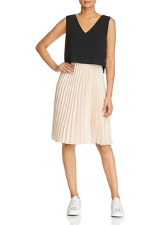 DKNY Donna Karan New York Pleated Combo Dress