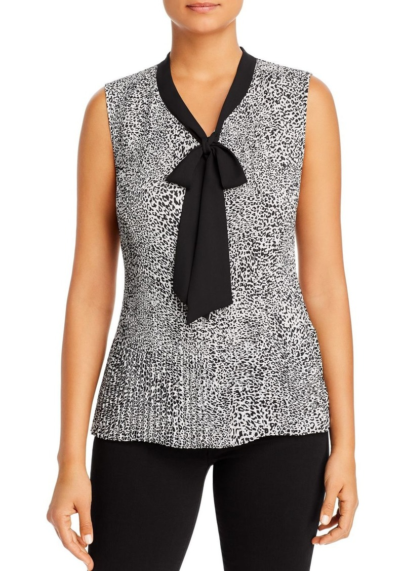 DKNY Donna Karan New York Pleated Tie-Neck Blouse