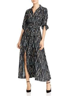 DKNY Donna Karan New York Printed Button-Down Maxi Dress