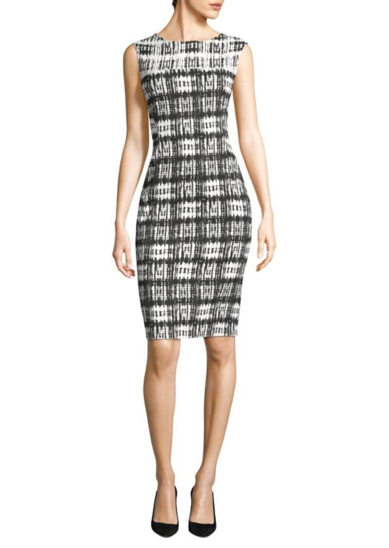 a860fcbf1b3 DKNY Printed Sleeveless Sheath Dress