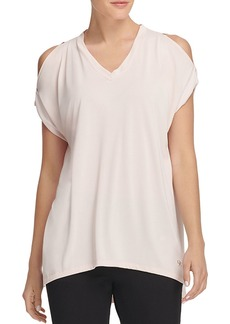 DKNY Donna Karan New York Relaxed Cold-Shoulder Tee