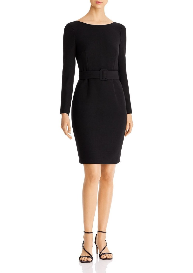 DKNY Donna Karan New York Scoop-Back Belted Sheath Dress