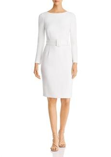 DKNY Donna Karan New York Scoop-Back Belted Sheath Dress