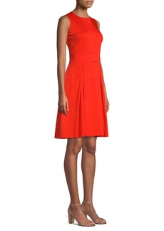 DKNY Belted Flare Dress