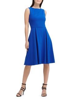 DKNY Donna Karan New York Scuba Crepe Pleat-Detail Dress