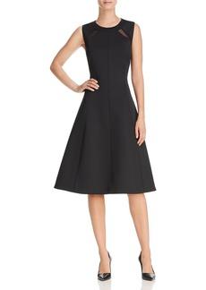 Donna Karan New York Scuba Fit-and-Flare Dress