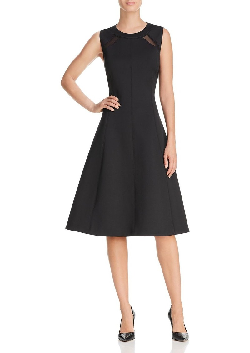 Dkny Donna Karan New York Scuba Fit And Flare Dress