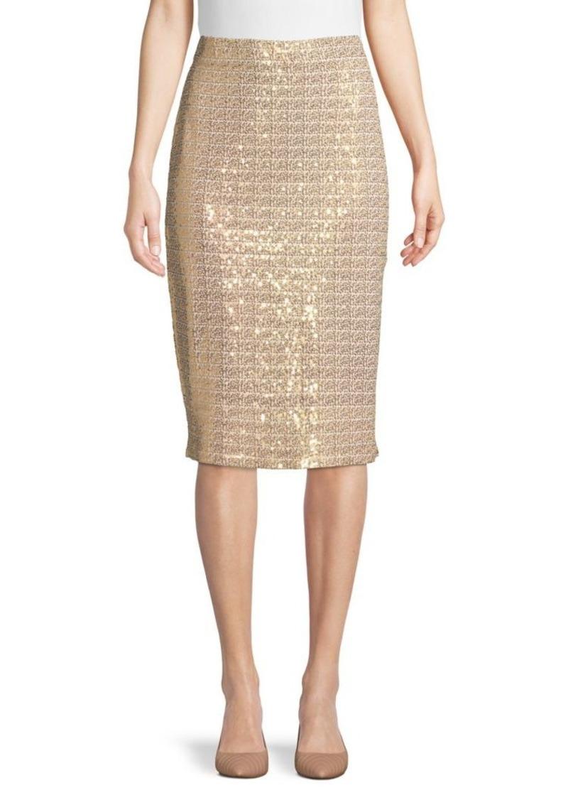 DKNY Donna Karan New York Sequin-Embellished Pencil Skirt