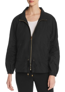 DKNY Donna Karan New York Shirred-Sleeve Zip Jacket