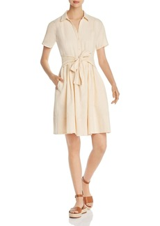 DKNY Donna Karan New York Short-Sleeve Tie-Front Dress