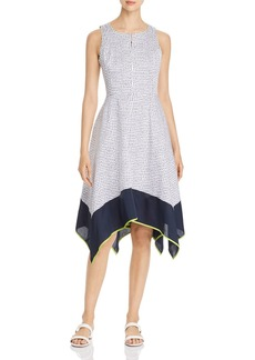 DKNY Donna Karan New York Sleeveless Dot-Print Dress