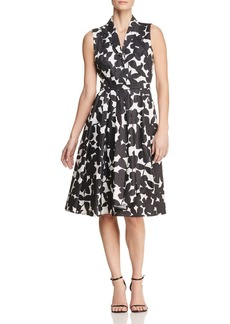 DKNY Donna Karan New York Sleeveless Floral-Print Fit-and-Flare Dress
