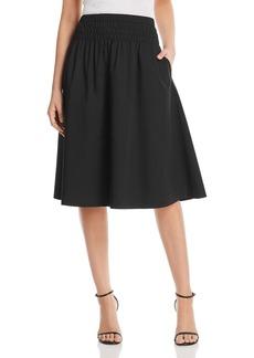 DKNY Donna Karan New York Smocked-Waist Skirt