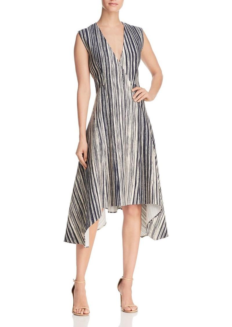 58131350b4 DKNY Donna Karan New York Striped Asymmetric Dress