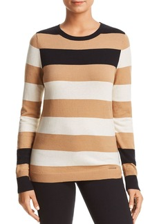 DKNY Donna Karan New York Striped Crewneck Sweater