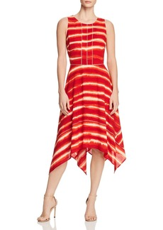 Donna Karan New York Striped Handkerchief-Hem Dress