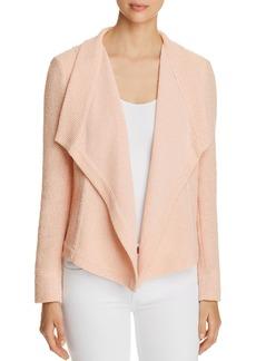DKNY Donna Karan New York Textured Drape-Front Jacket