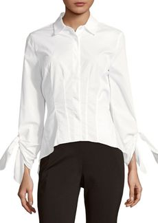 DKNY Donna Karan New York Tie Cuffs Blouse